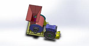 3D simple mining crusher 5t