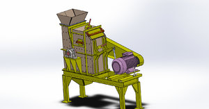 3D model simple impact crusher 20t