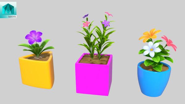 flower pot 3D