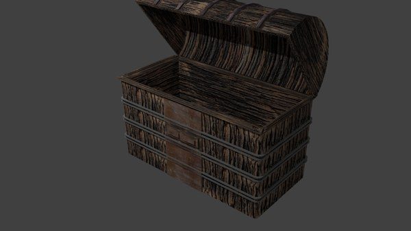 3D object treasure chest model