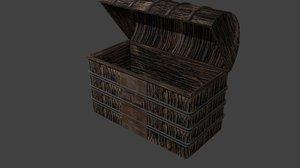 3D object treasure chest model