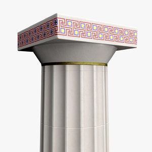 3D doric column polychromy model