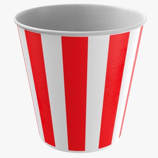 3D model real popcorn cup