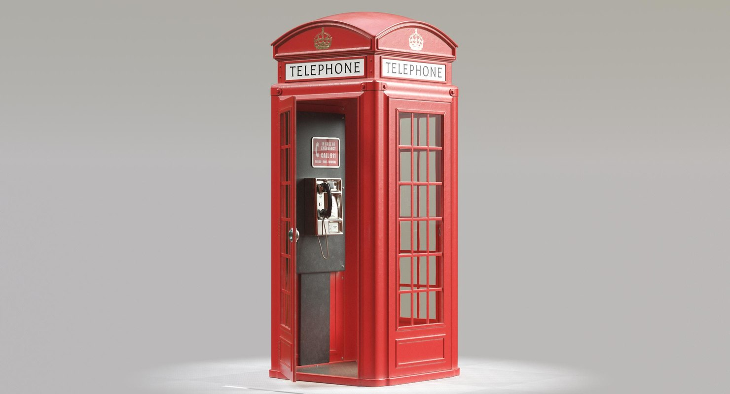 3D telephone box