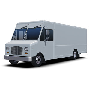 3D generic delivery step van model