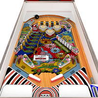 wood s queen pinball 3D