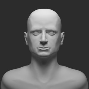 frodo man bust 3D model