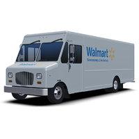 3D model walmart delivery step van