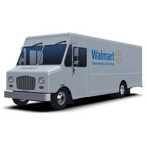 3D model walmart delivery step van
