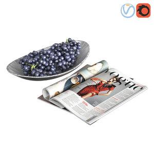3D model decorative grapes