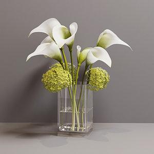 flowers bouquet 3D model