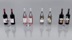 3D model wine bottle
