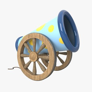cartoon cannon 3D