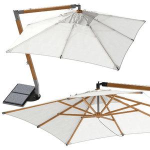 3D unopiu martin beach umbrella