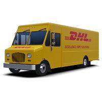 3D dhl delivery step van