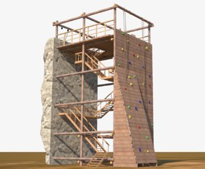 climbing wall tower 3D model