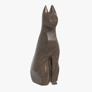 abstract cat statue 3D model