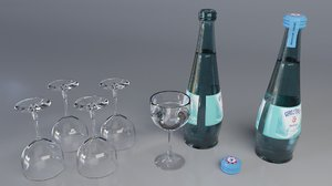 water bottles 3D