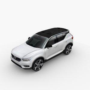 3D 2017 xc40 t5 model