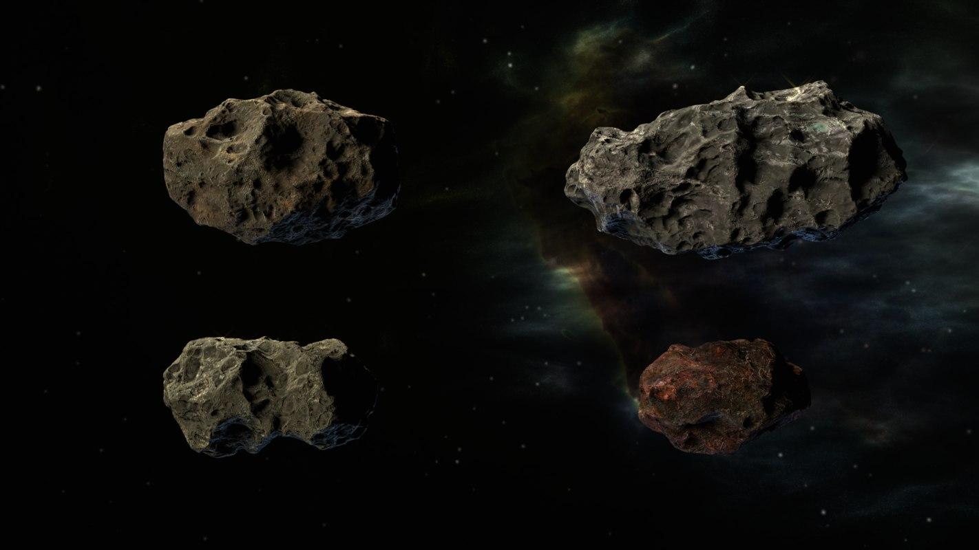 3D pack asteroids model