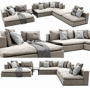hamilton sofa 3D model