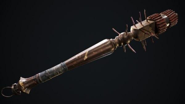 3D melee weapon pack model