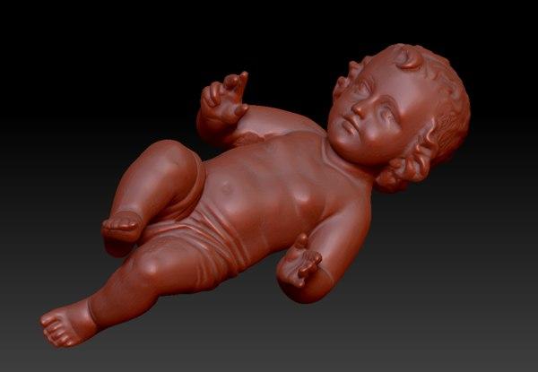 3D jesus baby christ