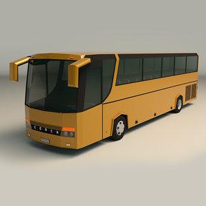 3D model coach bus