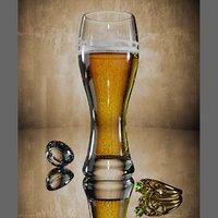 3D beer glass foam