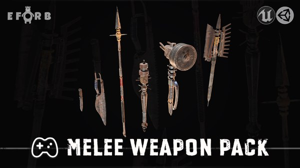 3D melee weapon pack model