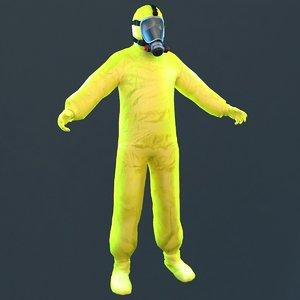 hazmat worker 3D