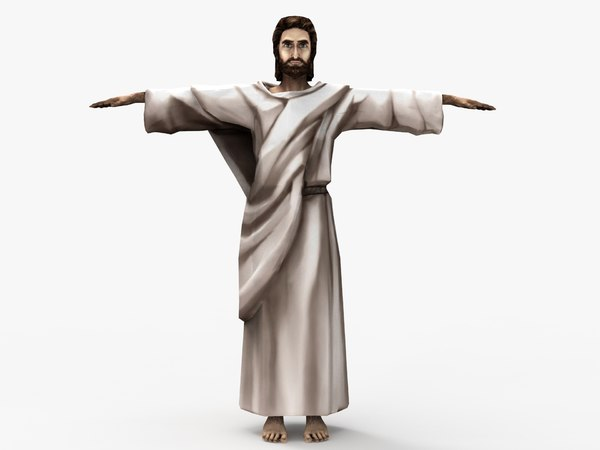 3D model rigged jesus christ simple