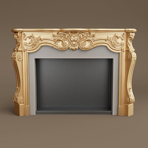 provasi fireplace 3D model