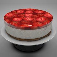 strawberry cake l137 3D model