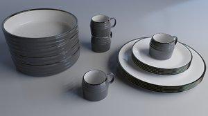 dining set 3D