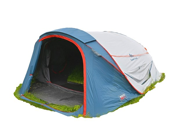 real camping tent scanned model
