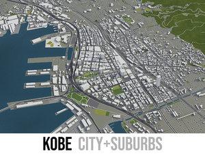 3D city kobe surrounding -