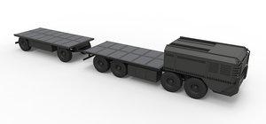 truck military trailer model