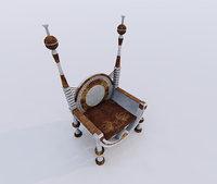 chair throne seat 3D