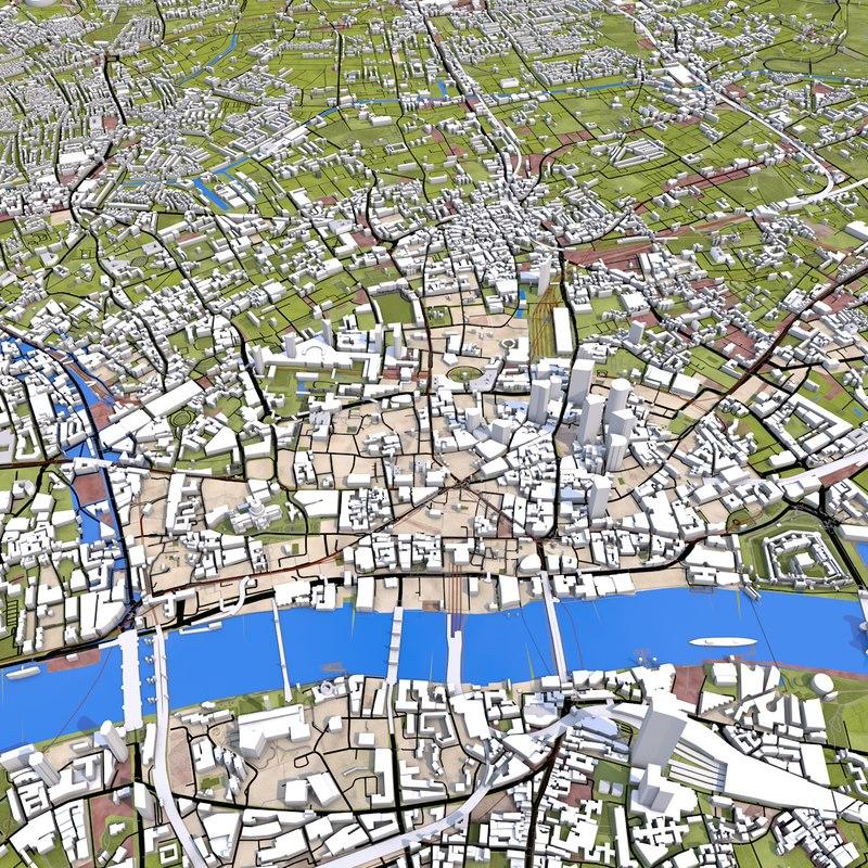 Full Map Of London.London City Full