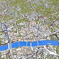 3D london cities model