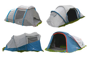 3D real camping tent scanned model