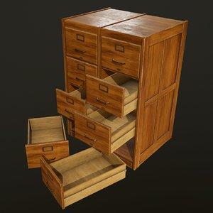 filing cabinets - ready 3D model