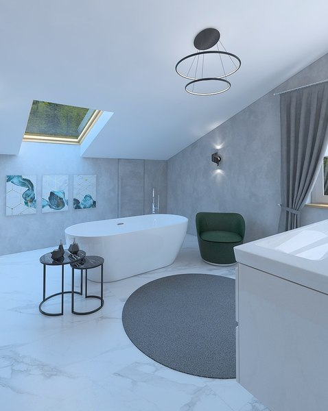 bathroom bath 3D model