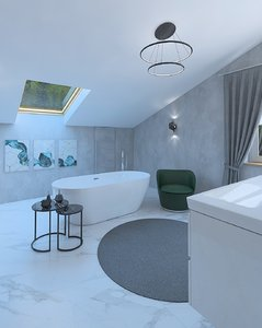 bathroom bath 3D model