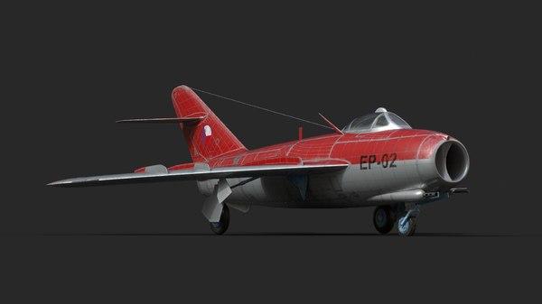 mig-17s fighters czech model