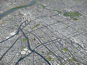 3D city metropolitan region model