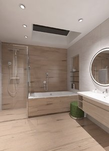 3D bathroom bath