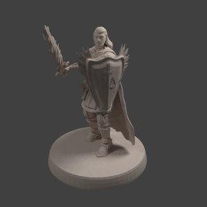 dnd miniature human male model