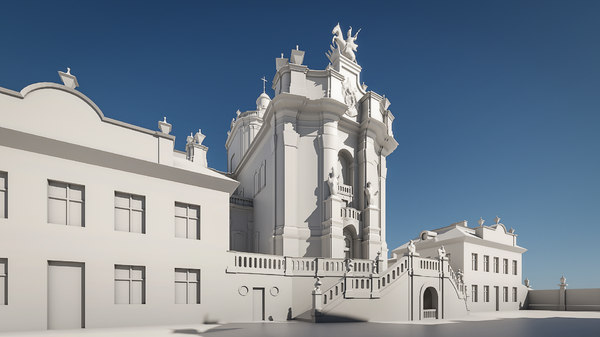 3D model cathedral george ukraine
